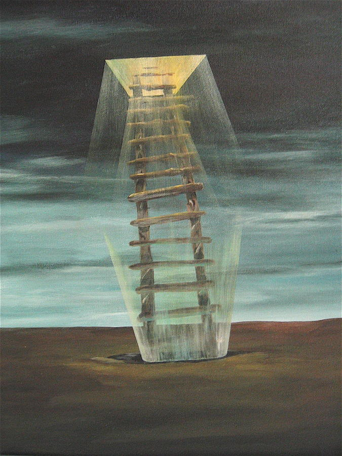 Surrealism Painting - Chickasaws Ladder by K Hoover