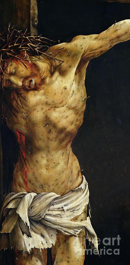 Christ On The Cross Painting by Matthias Grunewald