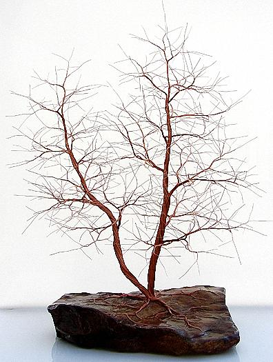Copper Wire Tree Sculpture 1278 Mixed Media By Omer