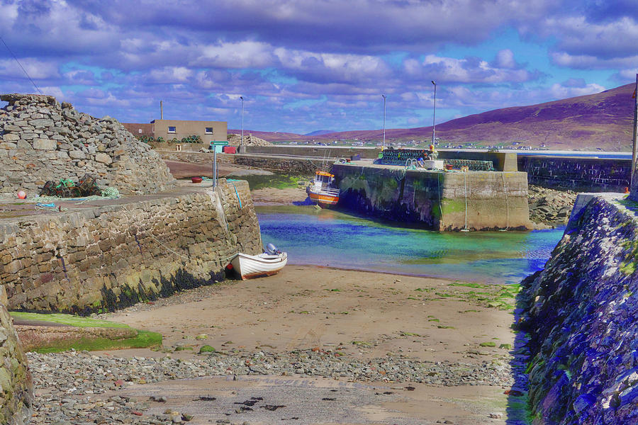 Empty Harbour at Purteen, Achill Island, Country Mayo, Ireland