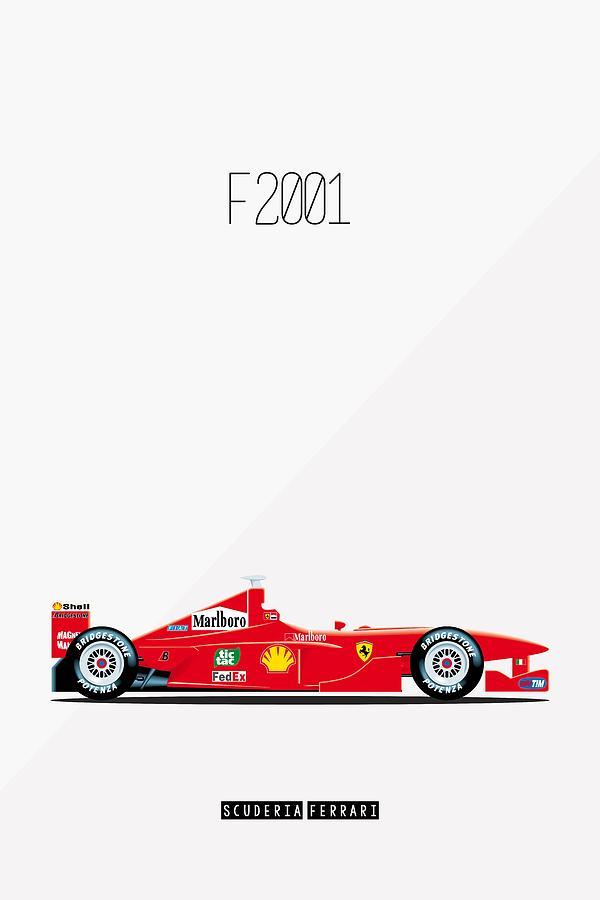 ferrari f2001 f1 poster by beautify my walls