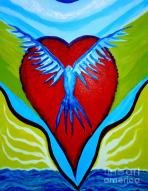 Freedom Of Heart Painting by Julio Sanchez - Julsan