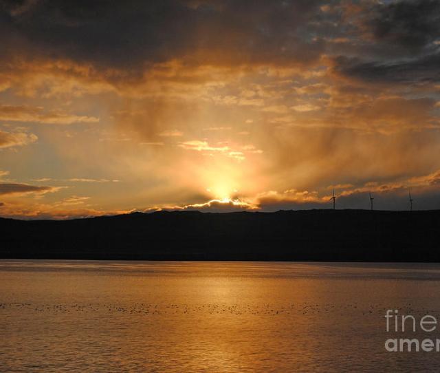 Sunset Photograph Gorge Sunrise By Shauna Obrien