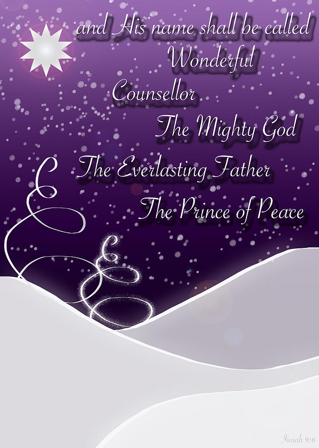 Isaiah Chapter 9 Verse 6 Christmas Card Digital Art By
