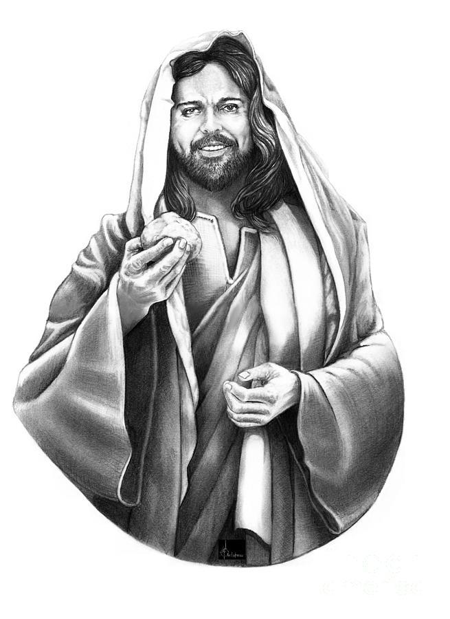 Jesus Christ Drawing by Murphy Elliott