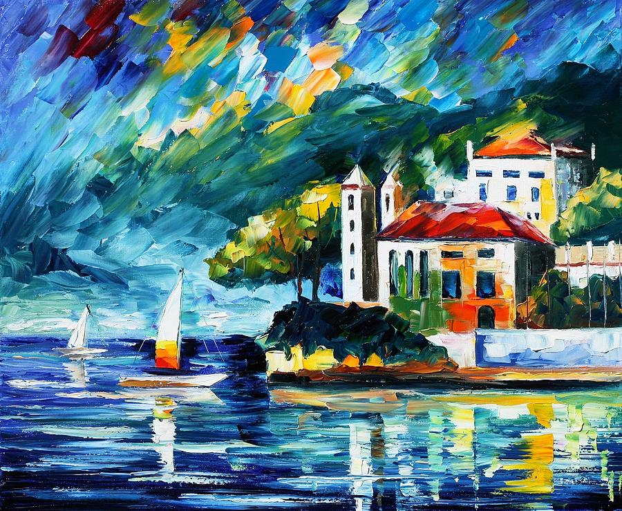 Lake Como Italy Painting By Leonid Afremov