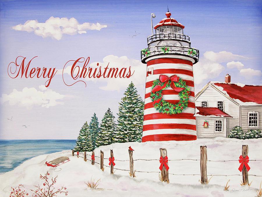 Christmas Light Canvas Wall Art