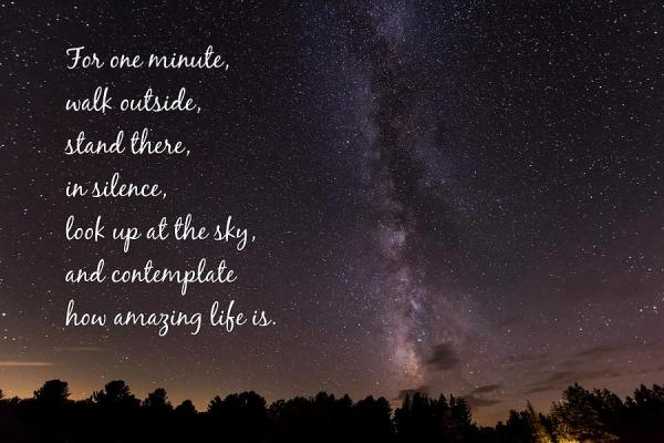Milky Way And Stars Amazing Life Quote Photograph by Terry