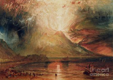 Mount Vesuvius in Eruption Painting by Joseph Mallord William Turner