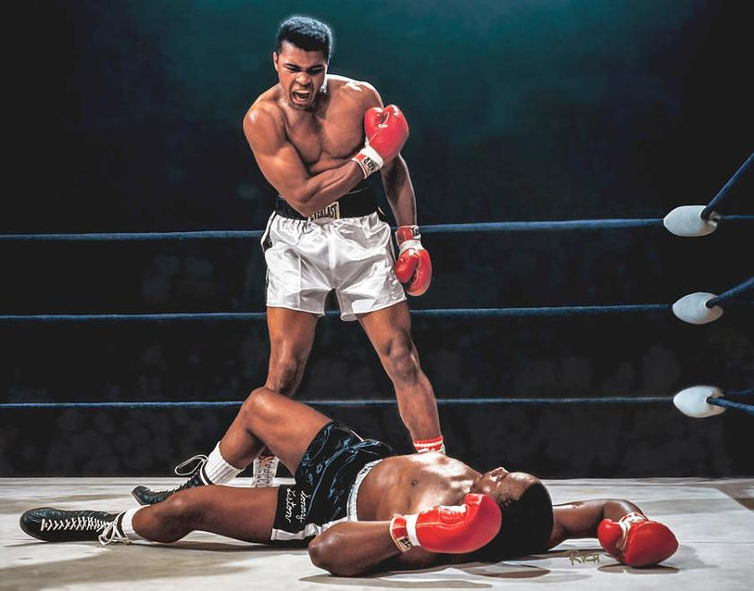 muhammad ali boxer knocks out sonny liston cassius