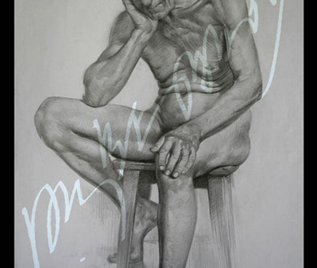 Nude Drawing Old Man Nude By Ross Frantz
