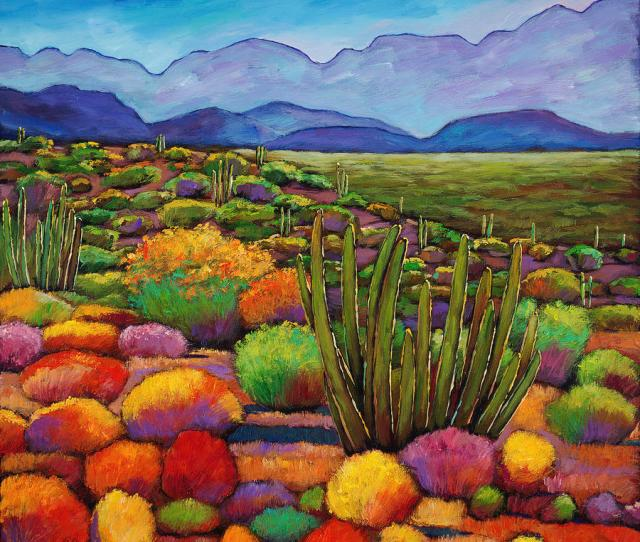 Landscape Painting Organ Pipe By Johnathan Harris