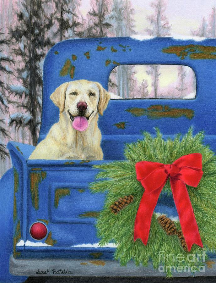 Pick En Up The Christmas Tree Painting By Sarah Batalka