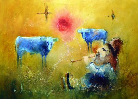 Shepherd Makar Painting by Igor Medvedev