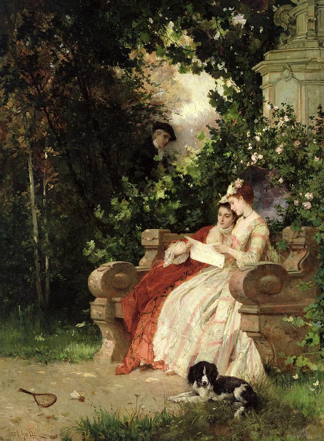 The Eavesdropper Painting by Carl Heinrich Hoff
