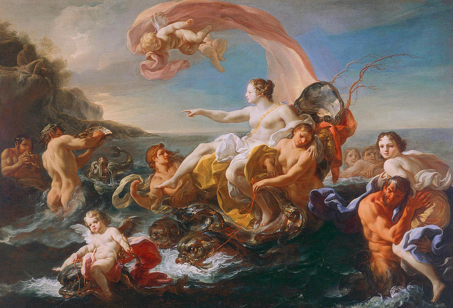 The Triumph Of Galatea Painting by Corrado Giaquinto Italian Rococo Painting   The Triumph Of Galatea by Corrado Giaquinto