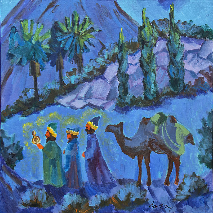Three Wise Men Painting By Diane McClary