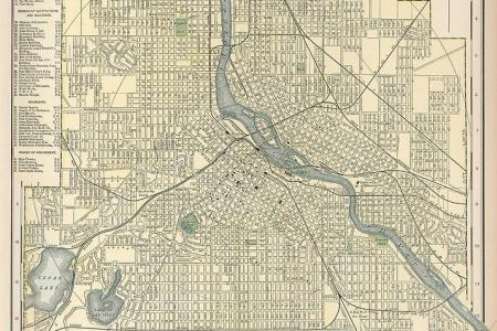 Online Interactive Map Wallpapers Map For Minneapolis - Vintage minneapolis map