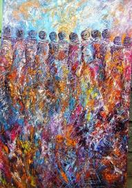 Image result for gathering together painting