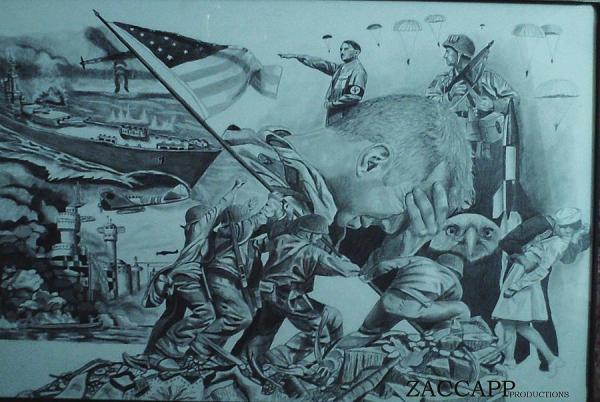 World War 2 Drawing by Zachary Capodici