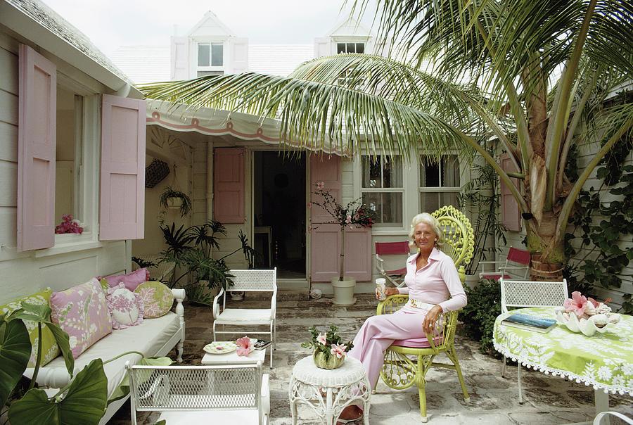caribbean patio by slim aarons