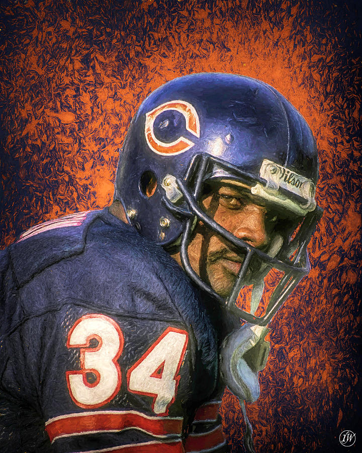 legend series walter payton by rick wiles