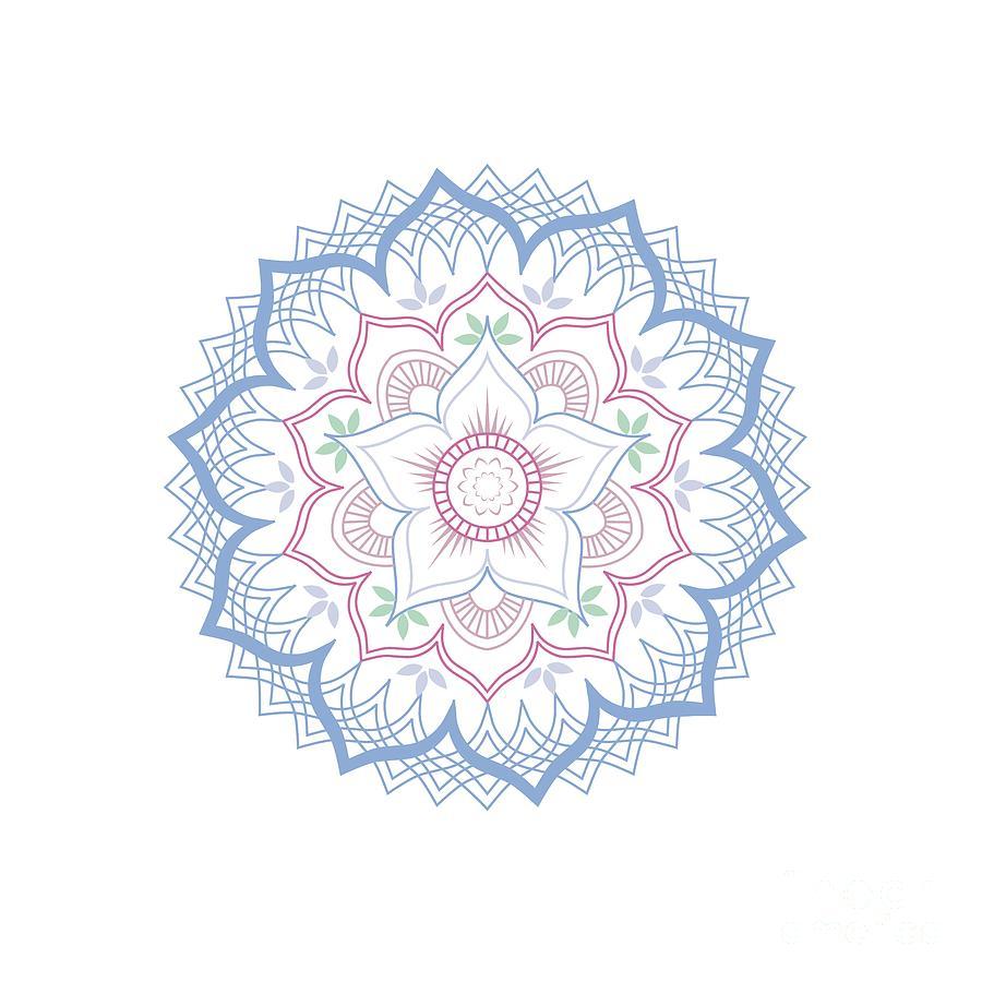 Lotus Flower Mandala Digital Art By Shawlin I