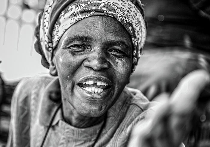 Old Woman Photograph - Old Woman Smiling by Chantelle Flores