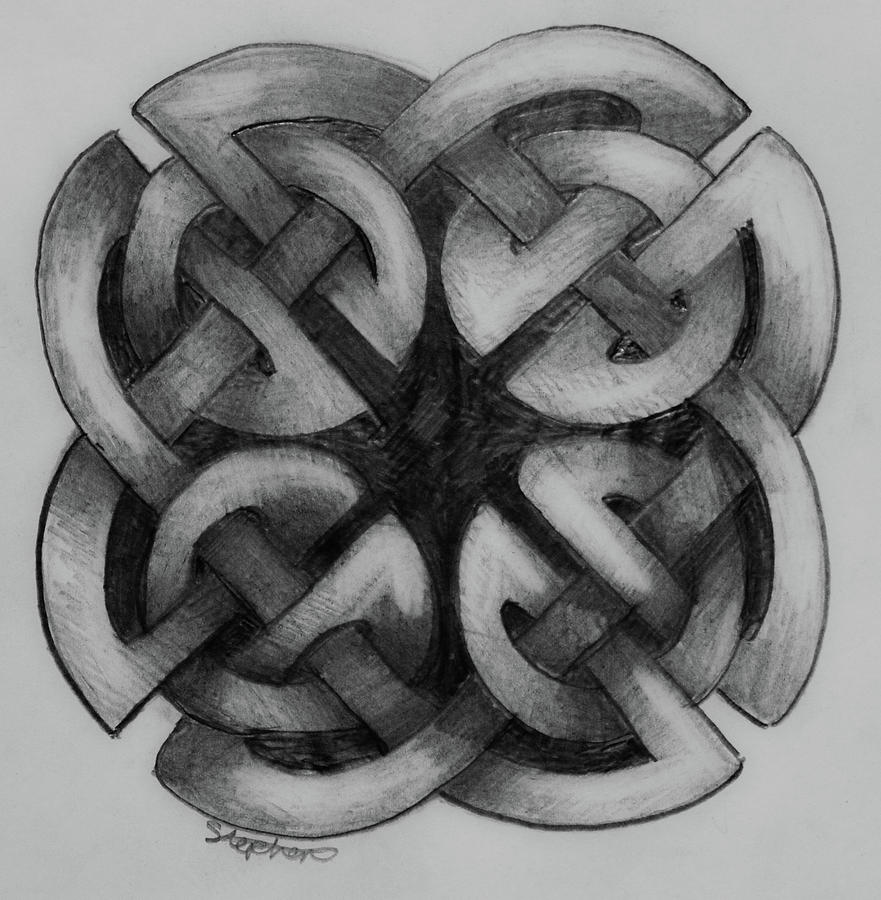 Simple Celtic Knot Drawing 2 Painting By Stephen Humphries