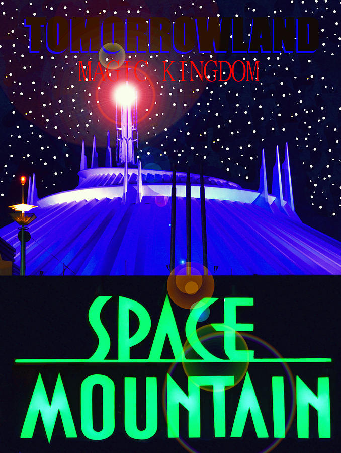 space mountain retro poster a by david lee thompson