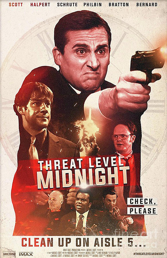 threat level midnight movie poster by linda b cerda