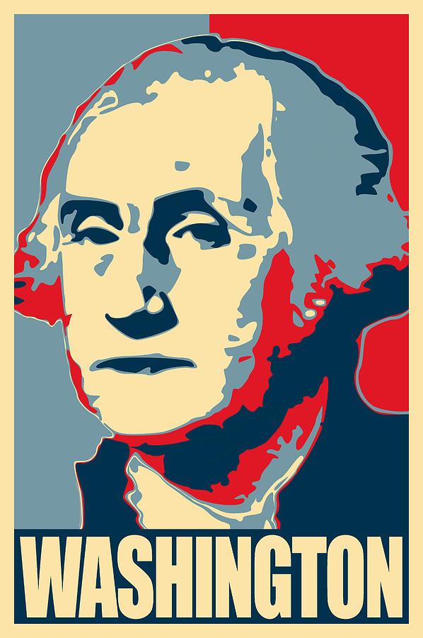 george washington propaganda poster pop art by filip schpindel