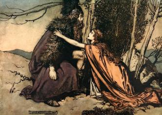 Father, Father, What Ails Thee Digital Art by Arthur Rackham