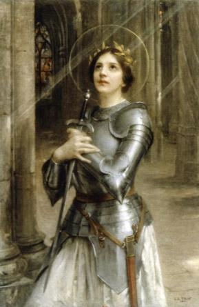 Joan of Arc. By Charles-Amable Lenoir. Digital Art by Tom Hill
