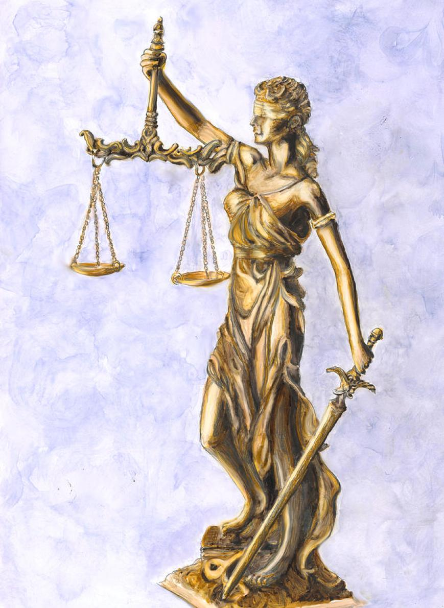 Lady Justice 2 Painting by Marcella Chapman