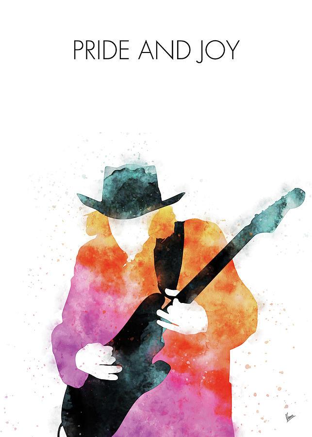 no087 my stevie ray vaughan watercolor music poster by chungkong art