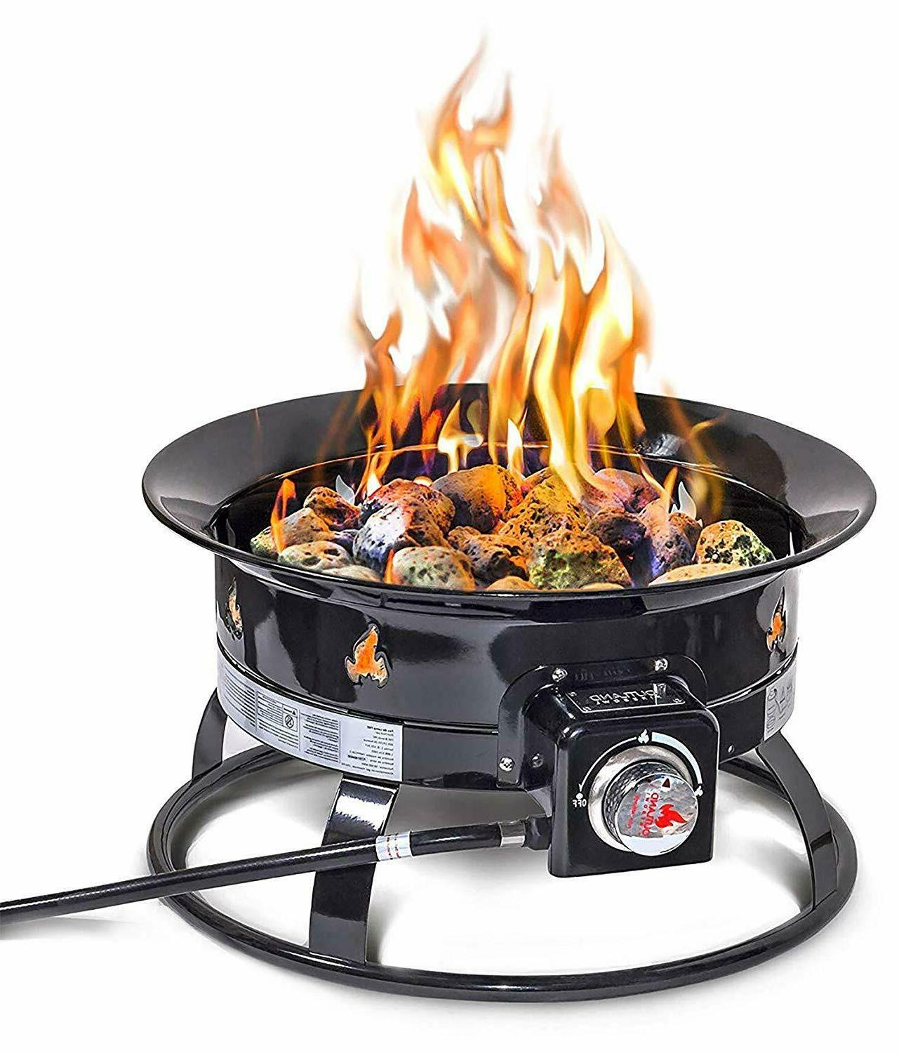 Outland Firebowl Outdoor Portable Propane Gas Fire Pit on Outland Gas Fire Pit id=89679