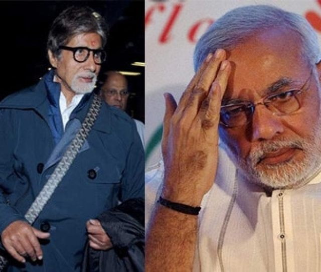 Bollywood Star Amitabh Bachchan And Gujarat Cm Narendra Modi