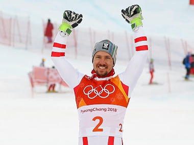 Image result for marcel hirscher 2018 olympics