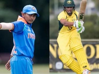 India captain Prithvi Shaw and Australia captain Jason Sangha. Agencies