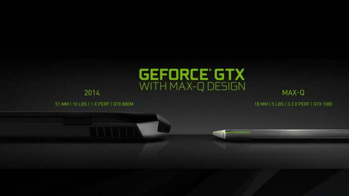 Max-Q enables gaming laptop designs that are slim enough to be truly portable. Image: Nvidia