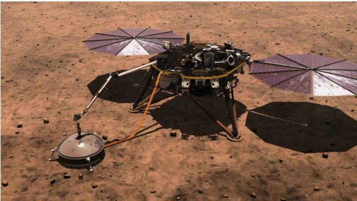 The InSight lander. Image courtesy: NASA