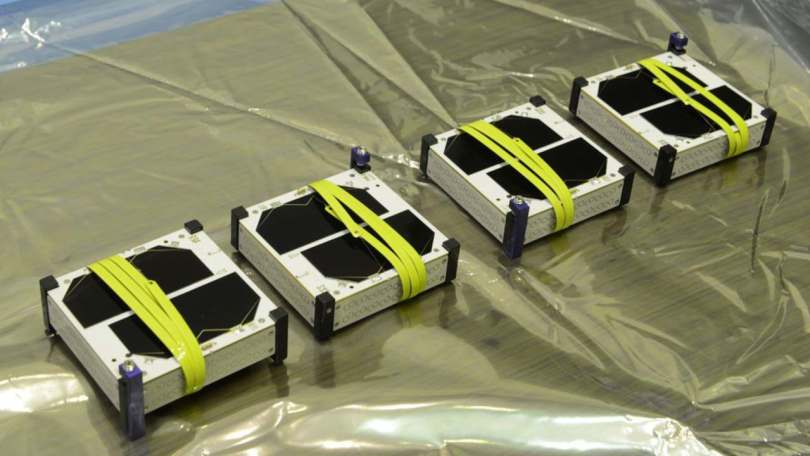 The four SpaceBEEs under in question. Image courtesy: Swarm Technologies