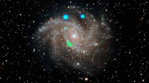 Strange green flash of light in 'Fireworks' galaxy picked ...