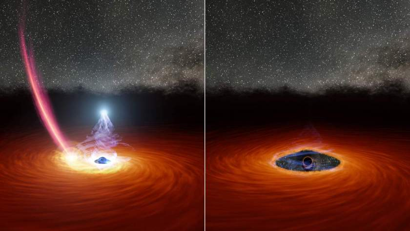 Corona of supermassive black hole seen disappearing, reappearing in a remarkable first