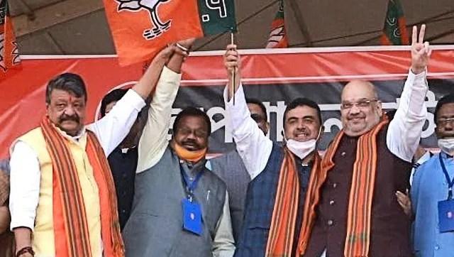 पश्चिम बंगाल की रैली में अमित शाह ने कहा, ममता बनर्जी होंगी 'अकेली';  सुवेंदु अधिकारी, नौ अन्य विधायक भाजपा में शामिल हुए।
