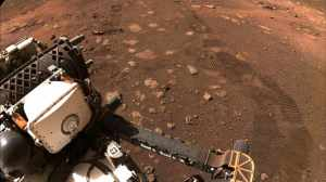 NASA's Rover Perseverance hit a dusty red road and embarked on its first 21-meter journey through Mars