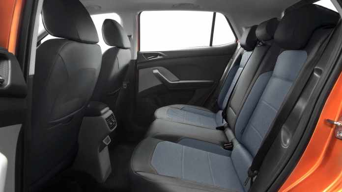 The Skoda Kushaq's rear seat will comfortably accommodate two adults, but three will be a squeeze. Image: Skoda