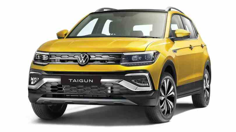 The production-spec Volkswagen Taigun remains largely identical to the concept shown in 2020. Image: Volkswagen