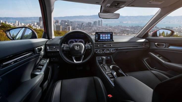 The 2022 Honda Civic sports a twin-screen setup on the inside. Image: Honda